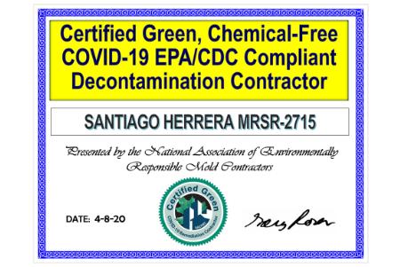 Covid-19 Sanitization Certificate